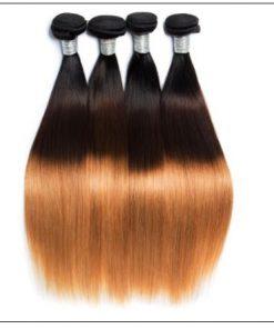 3 Bundles Unprocessed Indian Ombre Straight Human Virgin Hair img 4-min