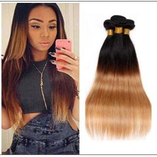 3 Bundles Unprocessed Indian Ombre Straight Human Virgin Hair img-min