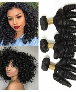 3 Bundles Virgin Remy Hair Short Curly Weave img-min