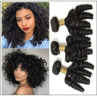 3 Bundles Virgin Remy Hair Short Curly Weave img-min