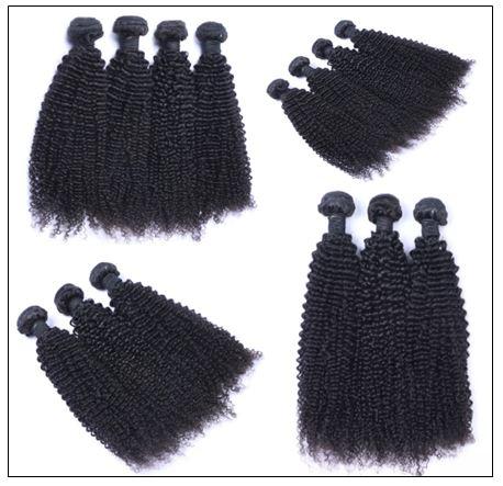 3 Bundles100% Virgin Human Hair Kinky Curly Hair img 2-min