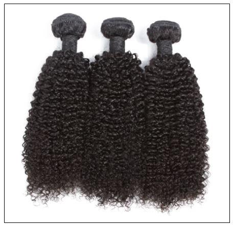 3 Bundles100% Virgin Human Hair Kinky Curly Hair img 3-min
