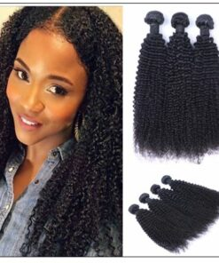 3 Bundles100% Virgin Human Hair Kinky Curly Hair img-min
