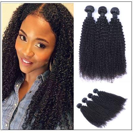 3 Bundles100% Virgin Human Hair Kinky Curly Hair img-min