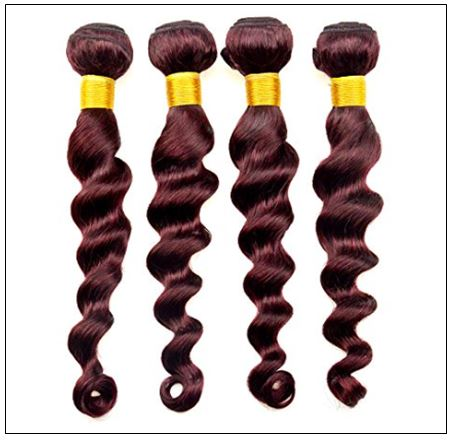 4 Bundles 99j Loose Deep Wave Human Hair Extensions img 2-min