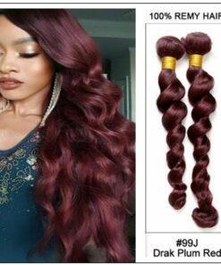 4 Bundles 99j Loose Deep Wave Human Hair Extensions img-min