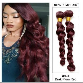 4 Bundles 99j Loose Deep Wave Human Hair Extensions img-min