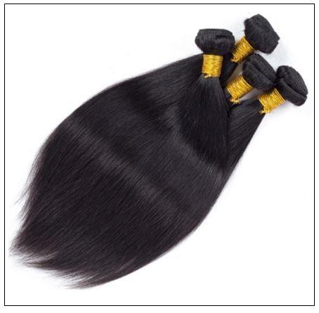 4 Bundles Peruvian Straight Virgin Human Hair Extensions img 2-min