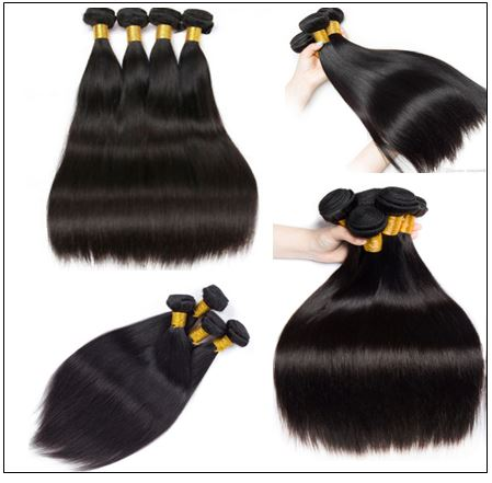 4 Bundles Peruvian Straight Virgin Human Hair Extensions img 3-min