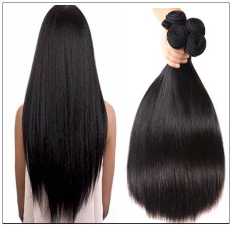 4 Bundles Peruvian Straight Virgin Human Hair Extensions img 4-min