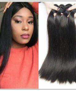 4 Bundles Peruvian Straight Virgin Human Hair Extensions img-min