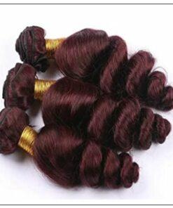 99J Loose Wave Wine Red Wavy Human Hair Weave img 2-min