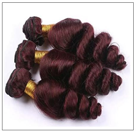 99J Loose Wave Wine Red Wavy Human Hair Weave img 2-min