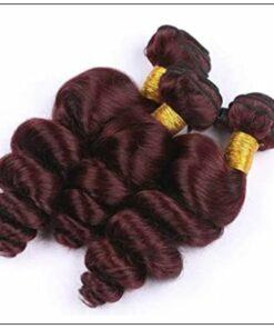 99J Loose Wave Wine Red Wavy Human Hair Weave img 3-min