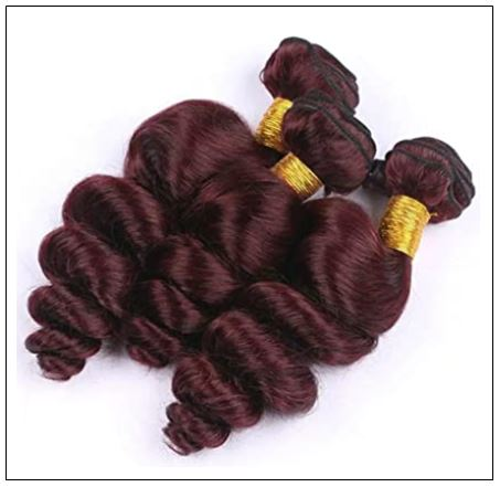 99J Loose Wave Wine Red Wavy Human Hair Weave img 3-min