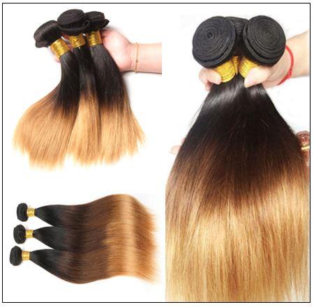 Brazilian 3 Bundles Tone Ombre Straight Hair Weave Remy Hair img 2-min