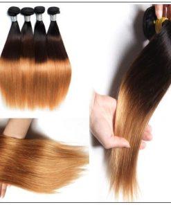 Brazilian 3 Bundles Tone Ombre Straight Hair Weave Remy Hair img 3-min
