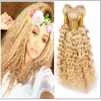 Deep Wave 613 Color Hair Weft Blonde Bundles 10-24 Inch img-min
