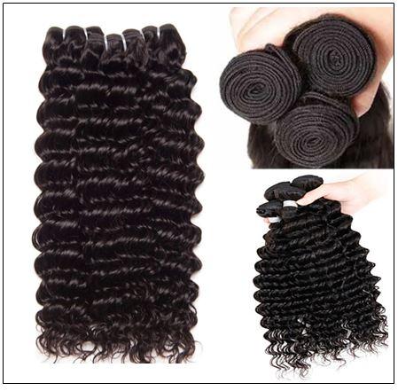 Good Quality 3 Bundles Cheap Deep Wave Human Virgin Hair img 3-min