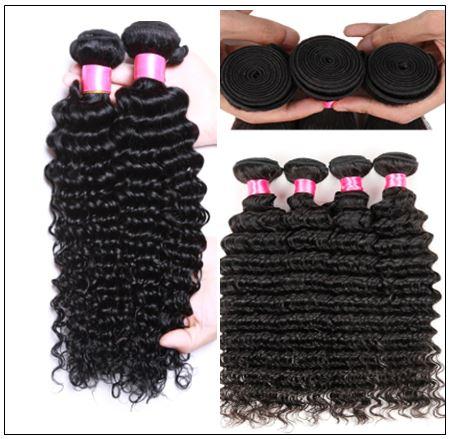 Good Quality 3 Bundles Cheap Deep Wave Human Virgin Hair img 4-min