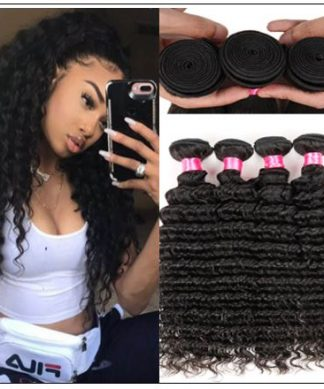 Good Quality 3 Bundles Cheap Deep Wave Human Virgin Hair img-min