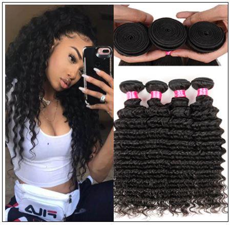 Good Quality 3 Bundles Cheap Deep Wave Human Virgin Hair img-min