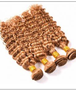 Honey Blonde Deep Wave Hair Weave img 2-min