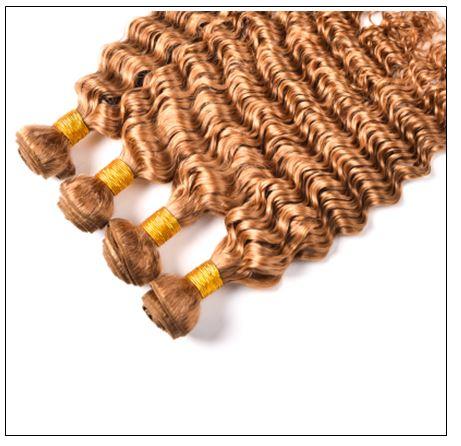 Honey Blonde Deep Wave Hair Weave img 4-min
