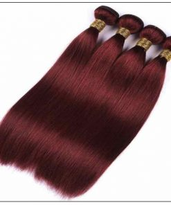 Indian Color Weave Hairstyles Rich Copper Red Straight Human Hair img 2-min
