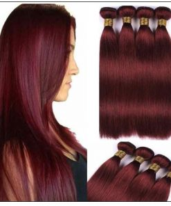 Indian Color Weave Hairstyles Rich Copper Red Straight Human Hair img 3-min
