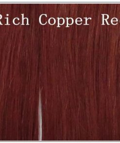 Indian Color Weave Hairstyles Rich Copper Red Straight Human Hair img 4-min