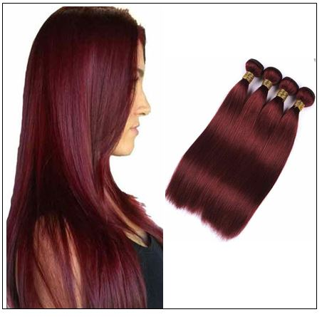 Indian Color Weave Hairstyles Rich Copper Red Straight Human Hair img-min