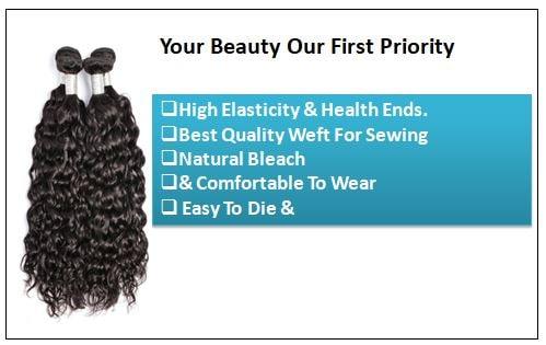 Indian Water Wave Human Hair Bundle- 100% Virgin 2-min