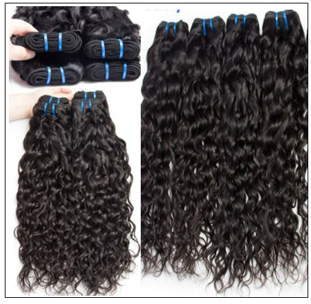 Indian Water Wave Human Hair Bundle- 100% Virgin img 3-min