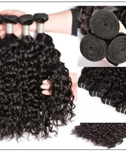 Indian Water Wave Human Hair Bundle- 100% Virgin img 4-min