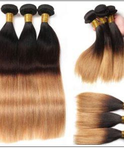 Malaysian 3 Bundles 3 Tones Straight Hair Ombre Hair Weaving img 2-min