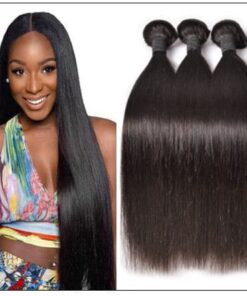 Malaysian straight hair bundle img