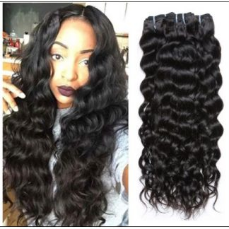 Natural Wave Hair Weave-100% Virgin img-min