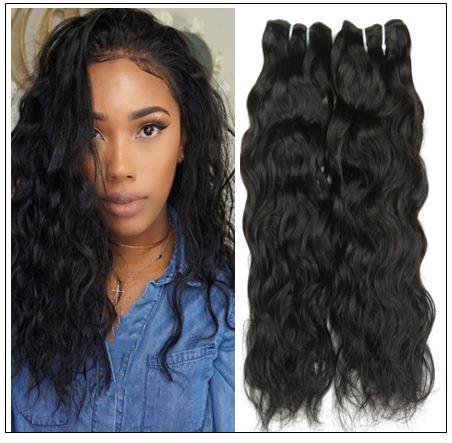 Peruvian Human Hair Bundles Natural Wave img-min