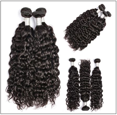 Peruvian Water Wave Hair Weaving-100% Human Hair img 3-min