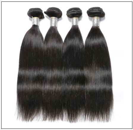 Straight Indian Human Hair Weave img 3-min
