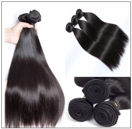 Straight Indian Human Hair Weave img 4-min