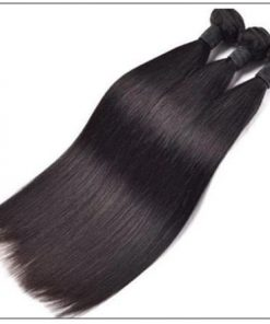 Straight hair weave with closure