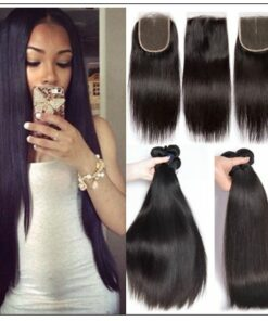 Straight hair weave with closure img-min