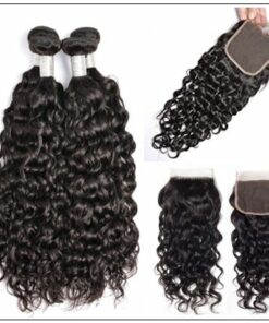 Wet and Wavy Hair Bundles With Closure img 2-min