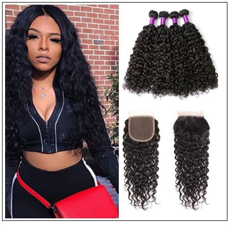Wet and Wavy Hair Bundles With Closure img-min