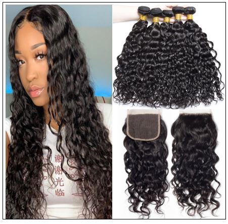 Wet and Wavy Sew In With Closure img-min