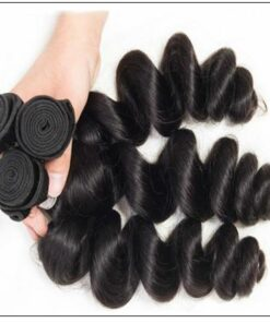 14 16 18 Brazilian Loose Wave Hair Extensions img 3-min