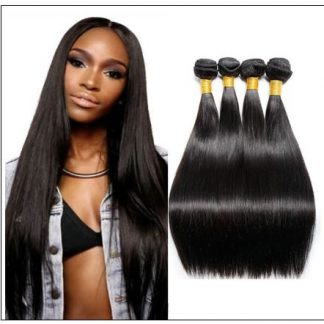 14 Inch Virgin Brazilian Hair Straight Hair Weave img-min