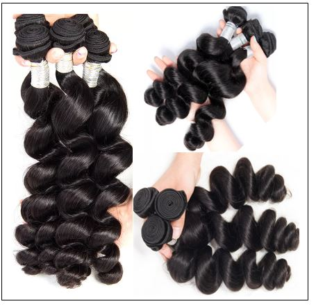 16 18 20 Brazilian Loose Wave Hair Extensions img 2-min